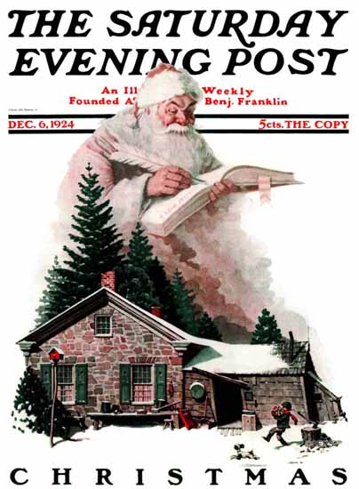 Norman Rockwell Saturday Evening Post Christmas 1924_12_06 | The Saturday Evening Post Graphic Art Covers 1892-1930