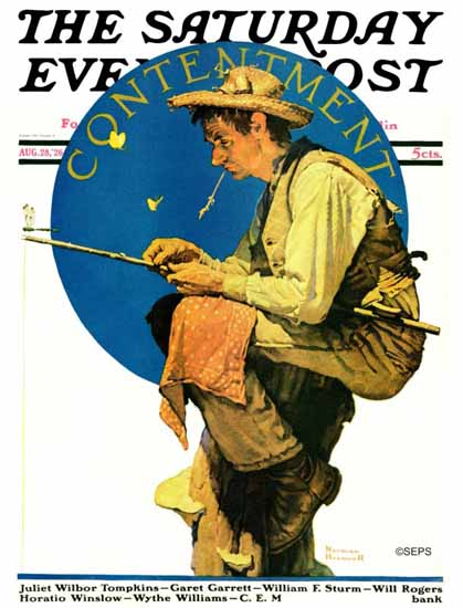 Norman Rockwell Saturday Evening Post Contentment 1926_08_28 | The Saturday Evening Post Graphic Art Covers 1892-1930