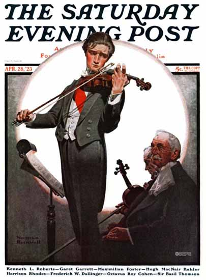 Norman Rockwell Saturday Evening Post Cover 1923_04_28 | The Saturday Evening Post Graphic Art Covers 1892-1930