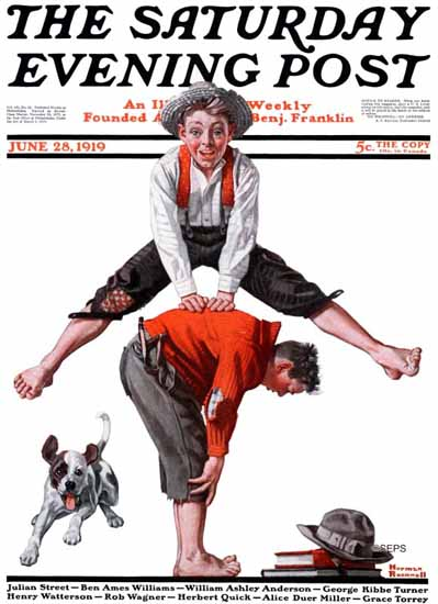 Norman Rockwell Saturday Evening Post Cover Art 1919_06_28 | 400 Norman Rockwell Magazine Covers 1913-1963