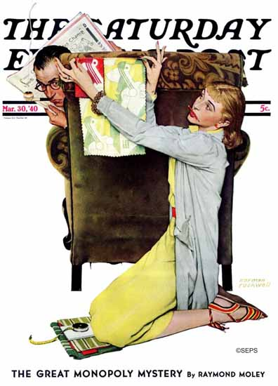 Norman Rockwell Saturday Evening Post Decorator 1940_03_30   400 Norman Rockwell Magazine Covers 1913-1963