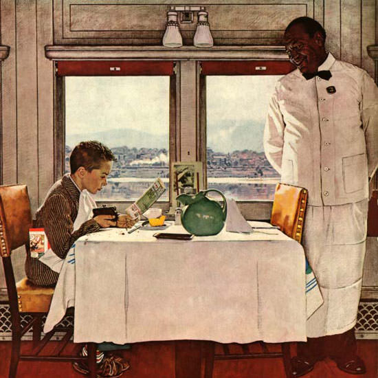 Norman Rockwell Saturday Evening Post Diner 1946_12_07 Copyright crop | Best of Vintage Cover Art 1900-1970