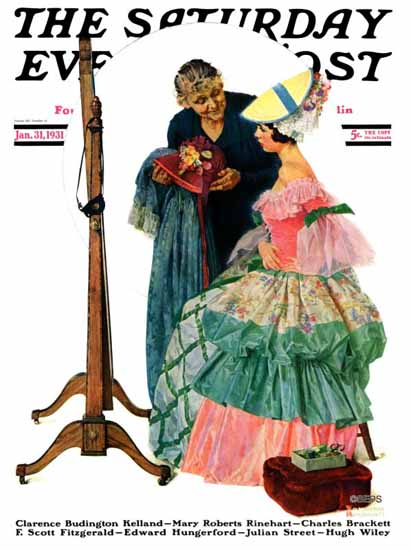 Norman Rockwell Saturday Evening Post Dressmaker 1931_01_31 | The Saturday Evening Post Graphic Art Covers 1931-1969