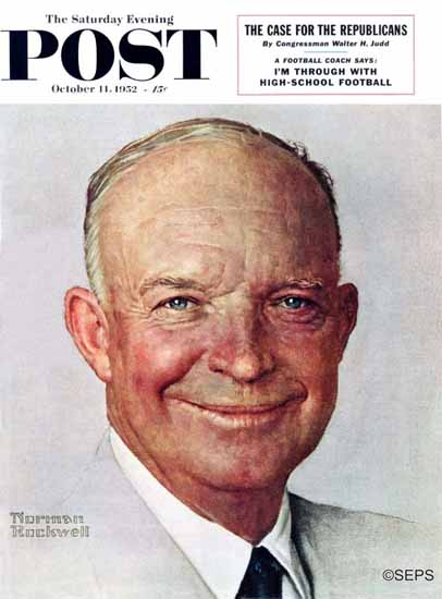 Norman Rockwell Saturday Evening Post Dwight Eisenhower 1952_10_11 | 400 Norman Rockwell Magazine Covers 1913-1963
