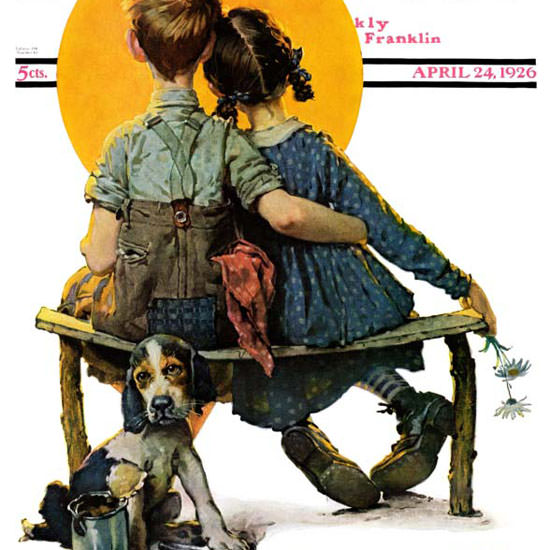 Norman Rockwell Saturday Evening Post Early 1926_04_24 Copyright crop | Best of Vintage Cover Art 1900-1970