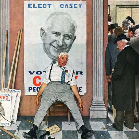 Norman Rockwell Saturday Evening Post Elect 1958_11_08 Copyright crop | Best of Vintage Cover Art 1900-1970