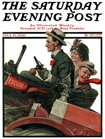 Norman Rockwell Saturday Evening Post Excuse My Dust 1920_07_31   400 Norman Rockwell Magazine Covers 1913-1963