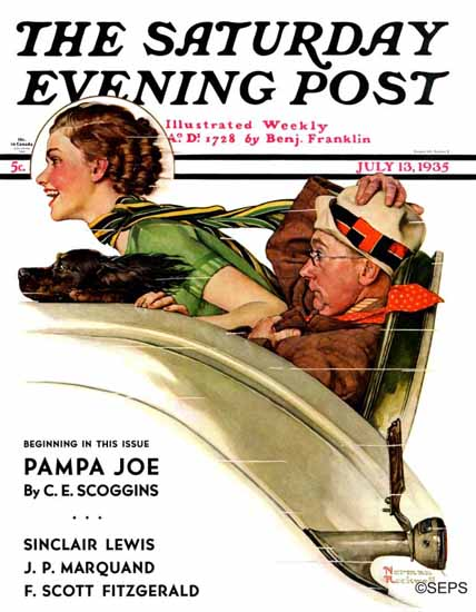 Norman Rockwell Saturday Evening Post Exhilaration 1935_07_13 | The Saturday Evening Post Graphic Art Covers 1931-1969