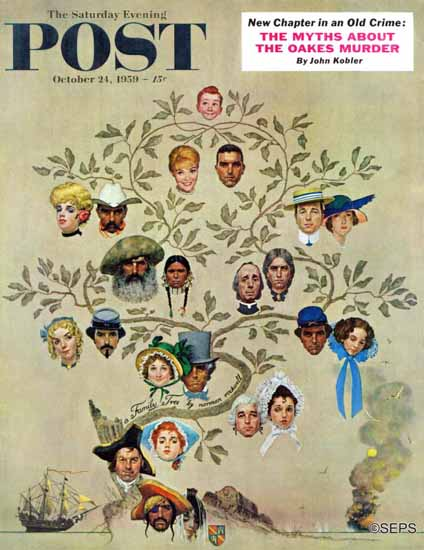 Norman Rockwell Saturday Evening Post Family Tree 1959_10_24 | 400 Norman Rockwell Magazine Covers 1913-1963