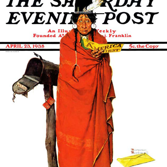 Norman Rockwell Saturday Evening Post First 1938_04_23 Copyright crop | Best of 1930s Ad and Cover Art