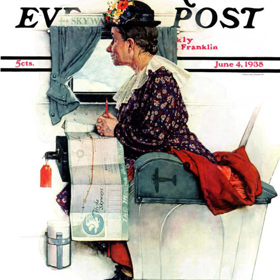 Norman Rockwell Saturday Evening Post First 1938_06_04 Copyright crop | Best of Vintage Cover Art 1900-1970
