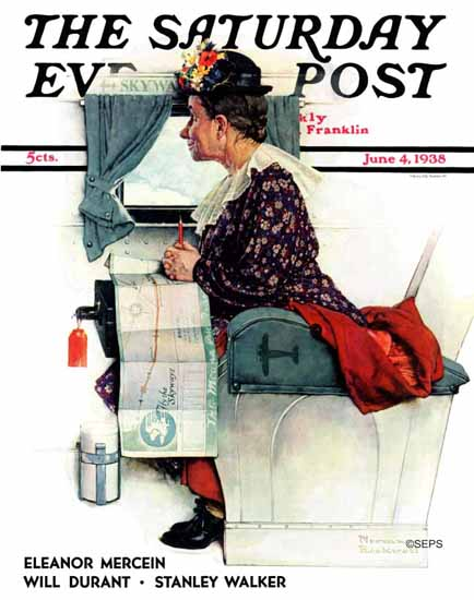 Norman Rockwell Saturday Evening Post First Flight 1938_06_04 | The Saturday Evening Post Graphic Art Covers 1931-1969