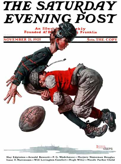 Norman Rockwell Saturday Evening Post Football 1925_11_21 | 400 Norman Rockwell Magazine Covers 1913-1963