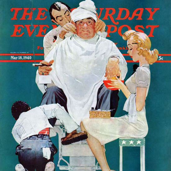 Norman Rockwell Saturday Evening Post Full 1940_05_18 Copyright crop | Best of Vintage Cover Art 1900-1970