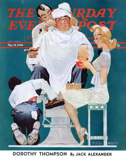 Norman Rockwell Saturday Evening Post Full Treatment 1940_05_18 | The Saturday Evening Post Graphic Art Covers 1931-1969