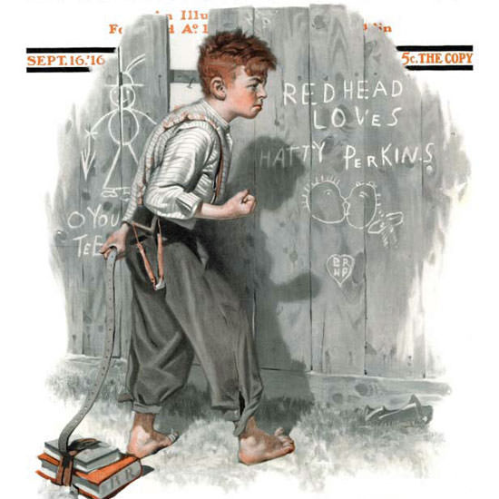 Norman Rockwell Saturday Evening Post HP 1916_09_16 Copyright crop | Best of Vintage Cover Art 1900-1970