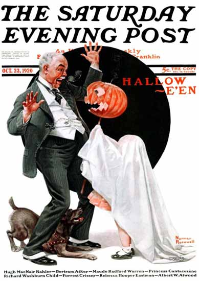 Norman Rockwell Saturday Evening Post Halloween 1920_10_23 | 400 Norman Rockwell Magazine Covers 1913-1963