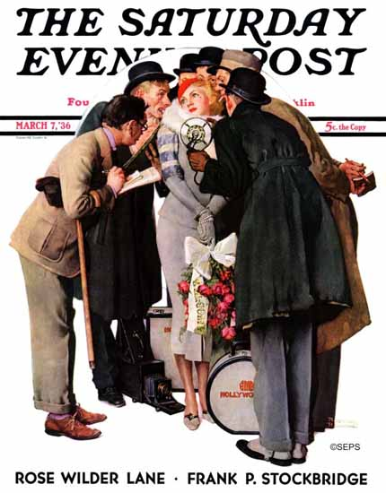Norman Rockwell Saturday Evening Post Hollywood Starlet 1936_03_07 | The Saturday Evening Post Graphic Art Covers 1931-1969
