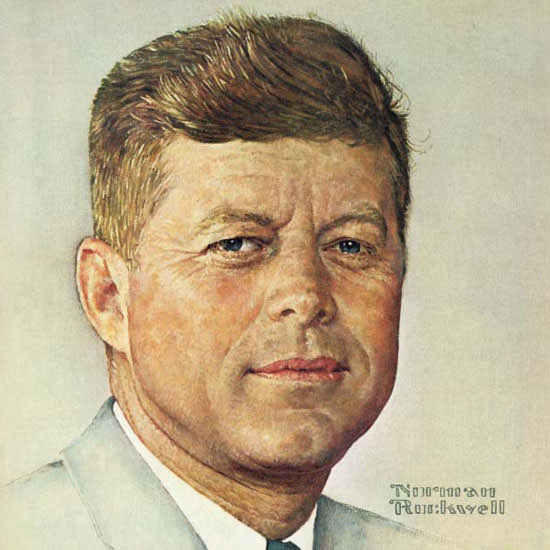 Norman Rockwell Saturday Evening Post JFK 1960_10_29 Copyright crop   Best of Vintage Cover Art 1900-1970