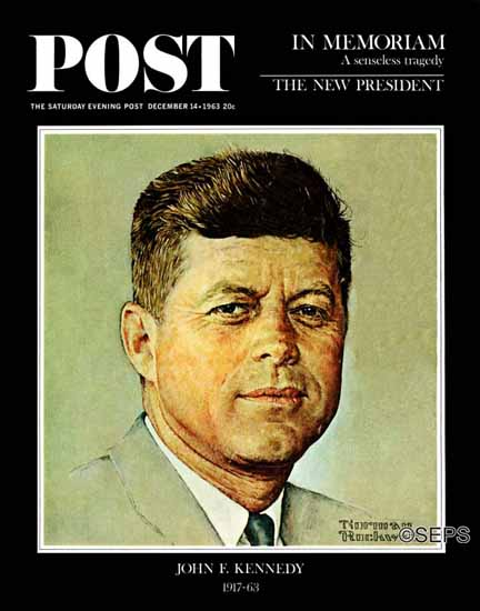 Norman Rockwell Saturday Evening Post John F Kennedy 1963_12_14 | 400 Norman Rockwell Magazine Covers 1913-1963