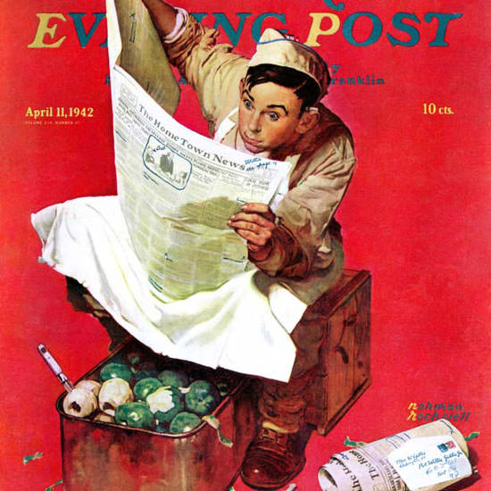 Norman Rockwell Saturday Evening Post KP 1942_04_11 Copyright crop | Best of Vintage Cover Art 1900-1970
