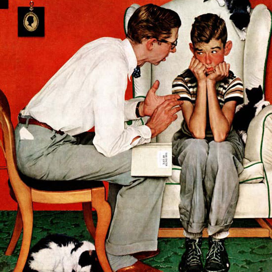 Norman Rockwell Saturday Evening Post Life 1951_07_14 Copyright crop | Best of Vintage Cover Art 1900-1970