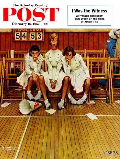 Norman Rockwell Saturday Evening Post Losing the Game 1952_02_16 | 400 Norman Rockwell Magazine Covers 1913-1963