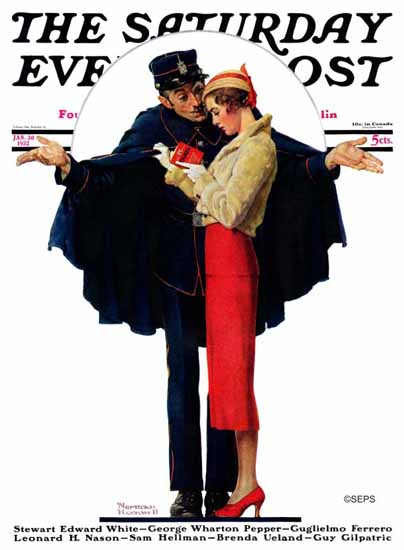 Norman Rockwell Saturday Evening Post Lost in Paris 1932_01_30 | The Saturday Evening Post Graphic Art Covers 1931-1969