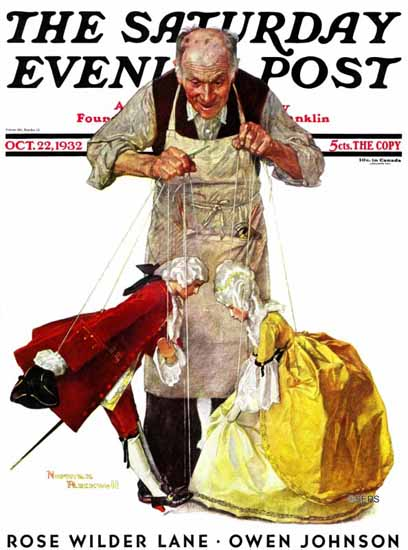 Norman Rockwell Saturday Evening Post Marionettes 1932_10_22 | 400 Norman Rockwell Magazine Covers 1913-1963