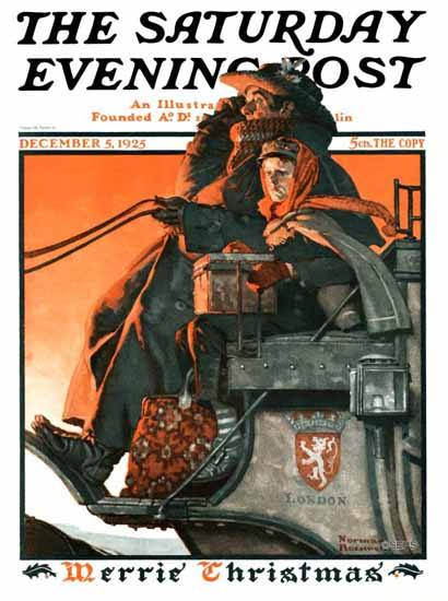 Norman Rockwell Saturday Evening Post Merrie Christmas 1925_12_05 | 400 Norman Rockwell Magazine Covers 1913-1963