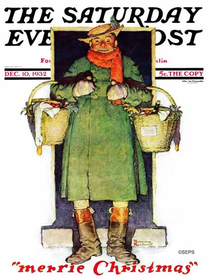 Norman Rockwell Saturday Evening Post Merrie Christmas 1932_12_10 | 400 Norman Rockwell Magazine Covers 1913-1963