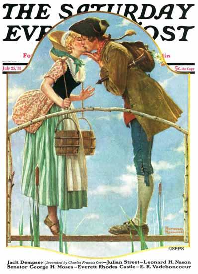 Norman Rockwell Saturday Evening Post Milkmaid 1931_07_25   The Saturday Evening Post Graphic Art Covers 1931-1969