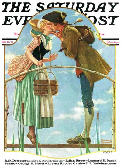 Norman Rockwell Saturday Evening Post Milkmaid 1931_07_25 | 400 Norman Rockwell Magazine Covers 1913-1963