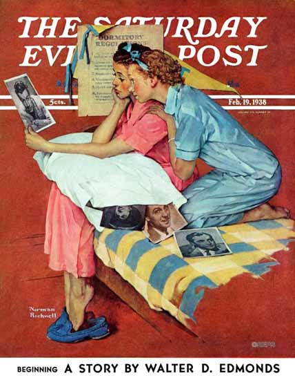 Norman Rockwell Saturday Evening Post Movie Star 1938_02_19 | 400 Norman Rockwell Magazine Covers 1913-1963