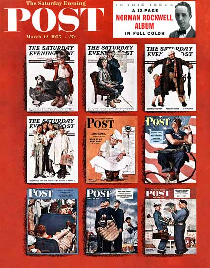 Norman Rockwell Saturday Evening Post N Rockwell Album 1955_03_12 | The Saturday Evening Post Graphic Art Covers 1931-1969