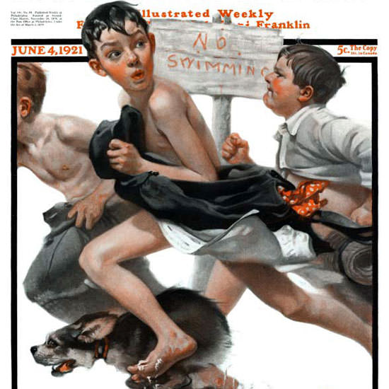 Norman Rockwell Saturday Evening Post NO 1921_06_04 Copyright crop | Best of Vintage Cover Art 1900-1970