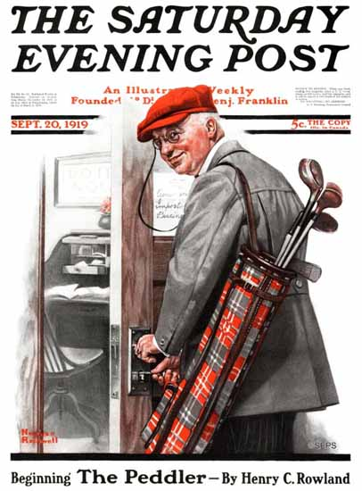 Norman Rockwell Saturday Evening Post Out of Office 1919_09_20 | 400 Norman Rockwell Magazine Covers 1913-1963
