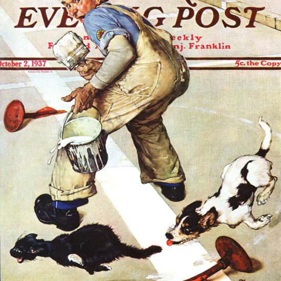 Norman Rockwell Saturday Evening Post Paint 1937_10_02 Copyright crop | Best of Vintage Cover Art 1900-1970