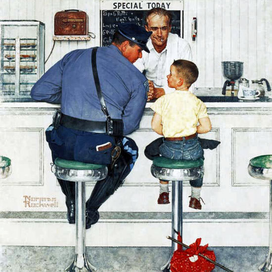 Norman Rockwell Saturday Evening Post Run 1958_09_20 Copyright crop | Best of Vintage Cover Art 1900-1970