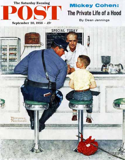 Norman Rockwell Saturday Evening Post Runaway 1958_09_20 | 400 Norman Rockwell Magazine Covers 1913-1963