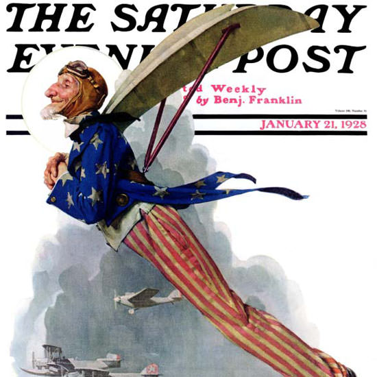 Norman Rockwell Saturday Evening Post Sam 1928_01_21 Copyright crop | Best of 1920s Ad and Cover Art