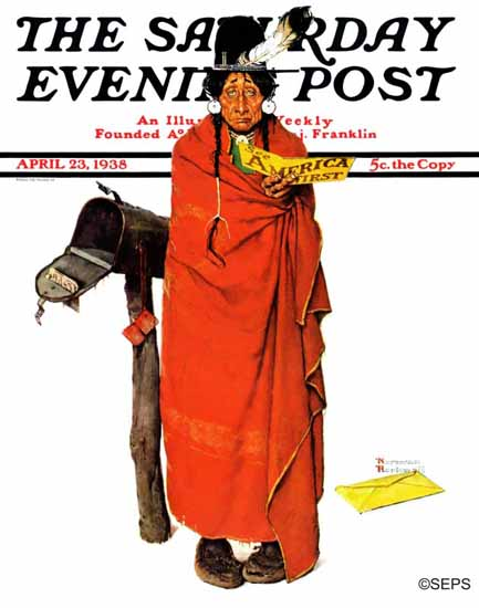 Norman Rockwell Saturday Evening Post See America First 1938_04_23 | The Saturday Evening Post Graphic Art Covers 1931-1969