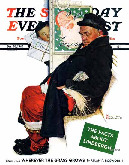 Norman Rockwell Saturday Evening Post See Santa Claus 1940_12_28 | The Saturday Evening Post Graphic Art Covers 1931-1969
