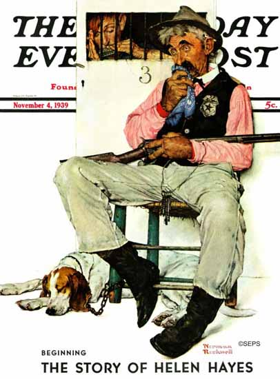 Norman Rockwell Saturday Evening Post Sheriff and Prisoner 1939_11_04   400 Norman Rockwell Magazine Covers 1913-1963