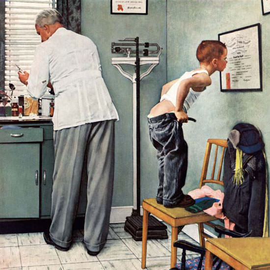 Norman Rockwell Saturday Evening Post Shot 1958_03_15 Copyright crop | Best of Vintage Cover Art 1900-1970