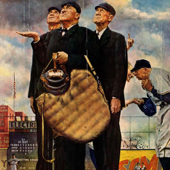 Norman Rockwell Saturday Evening Post Sixth 1949_04_23 Copyright crop | Best of Vintage Cover Art 1900-1970