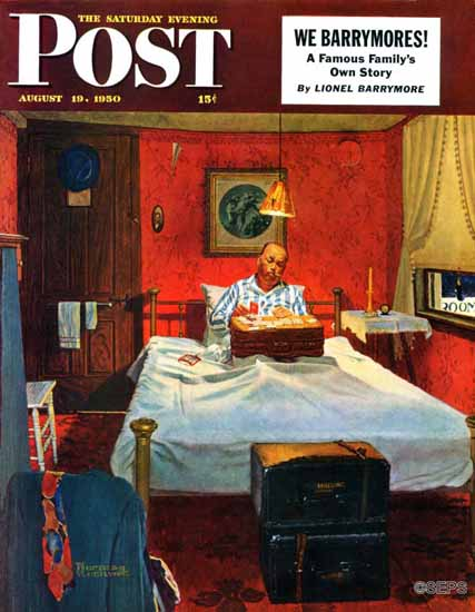 Norman Rockwell Saturday Evening Post Solitaire 1950_08_19 | The Saturday Evening Post Graphic Art Covers 1931-1969