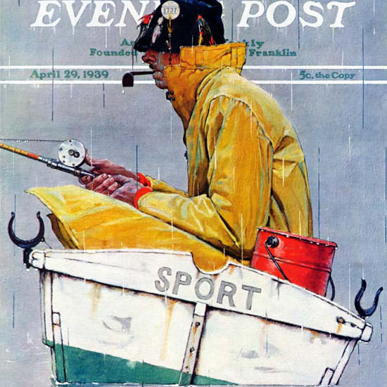 Norman Rockwell Saturday Evening Post Sport 1939_04_29 Copyright crop | Best of Vintage Cover Art 1900-1970