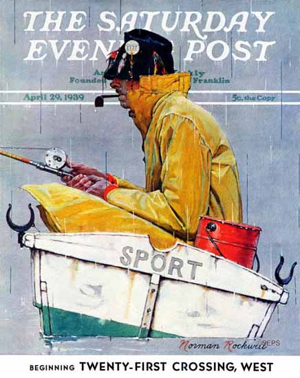 Norman Rockwell Saturday Evening Post Sport 1939_04_29 | 400 Norman Rockwell Magazine Covers 1913-1963