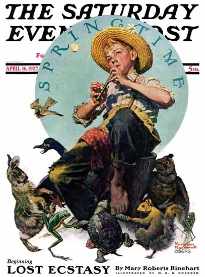 Norman Rockwell Saturday Evening Post Spring Time 1927_04_16 | The Saturday Evening Post Graphic Art Covers 1892-1930